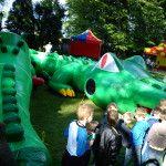 dmuchaniec krokodyl tunel