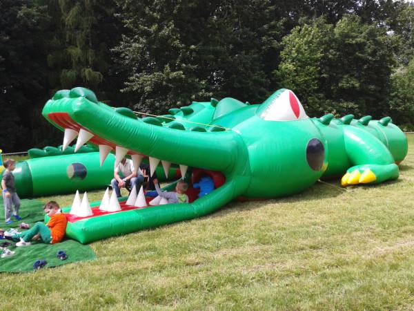 dmuchany krokodyl